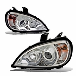 2005-2013 Freightliner Columbia LED DRL Projector Headlights - Chrome