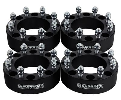 """2005-2016 Ford F-350 Super Duty 2WD and 4WD (Single Rear Wheel)  Supreme Suspension 1.5"""" PRO Billet Wheel Spacer Set (Set of 4 spacers)"""