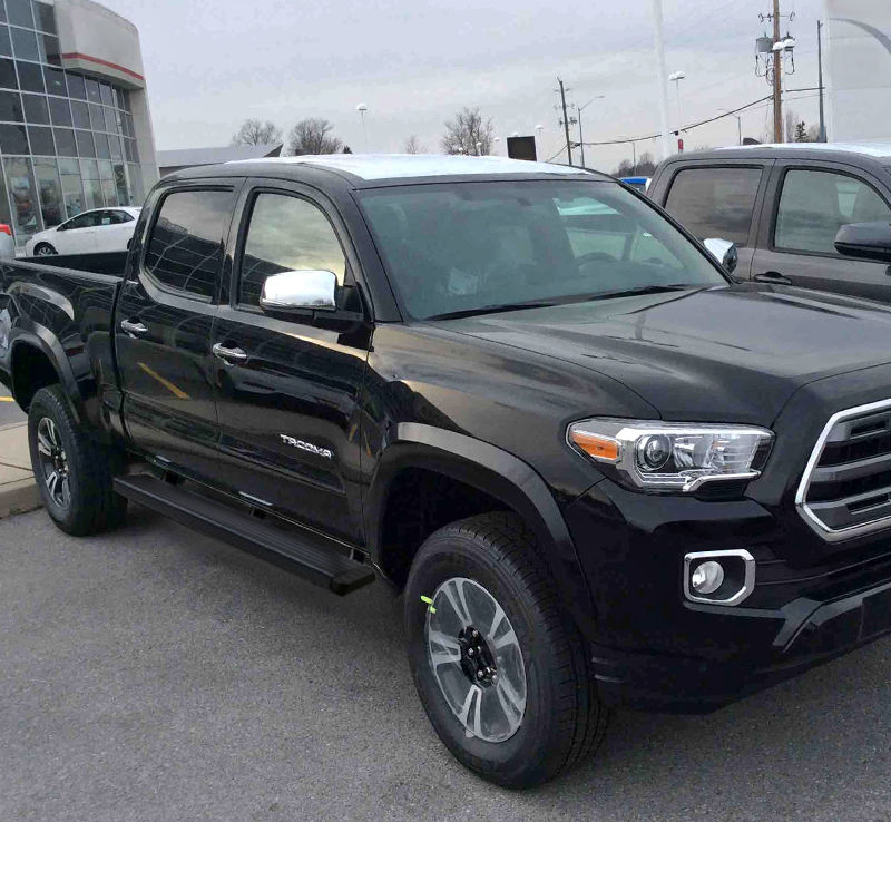 2017 Toyota Tacoma Running Boards >> 2005 2017 Toyota Tacoma Double Cab 5 Black Aluminum Side