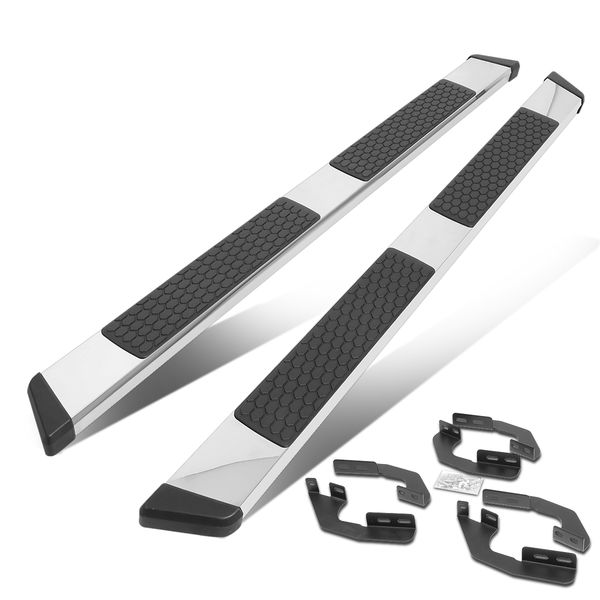 2005-2020 Toyota Tacoma Double/Crew Cab 5-inch Chrome Flat Step Bar Running Boards