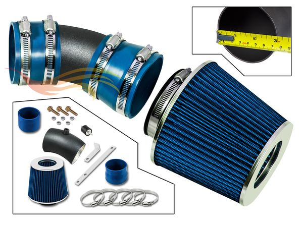 2006-2008 Chevy Impala Short Ram Intake Black Pipe With Blue Kit