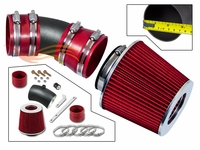 2006-2008 Chevy Impala Short Ram Intake Black Pipe With Red Kit
