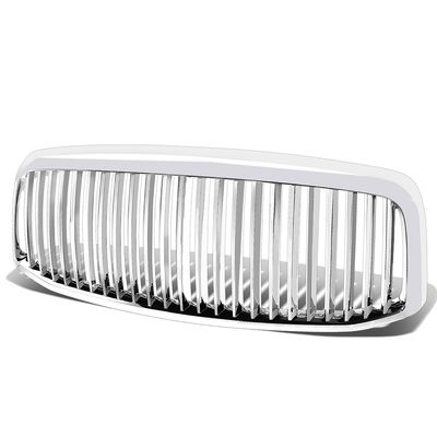 06-08 Dodge Ram 1500 / 2500 / 3500 Vertical ABS Plastic Front Grille - Chrome