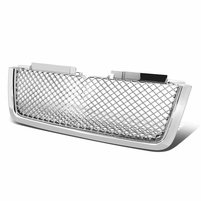 2006-2009 Chevy Trailblazer LT Diamond Mesh Front Hood Grill - Chrome