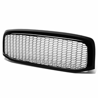 2006-2009 Dodge Ram Glossy Black Honeycomb Mesh Style Front Bumper Grille