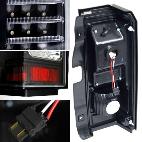 Hummer H3 06-09 Smoked LED Rear Tail Brake Lights Left /& Right Side