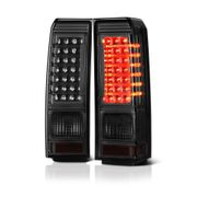 06-09 Hummer H3 Euro Style Performance LED Tail Lights - Smoked