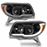 2006-2009 Toyota 4Runner Black LED Tube DRL Projector Headlights