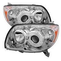 2006-2009 Toyota 4Runner Replacement Chrome Projector Headlights Driver + Passenger Side