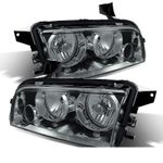 2006-2010 Dodge Charger [Halogen Model] Replacement Crystal Headlights - Smoked