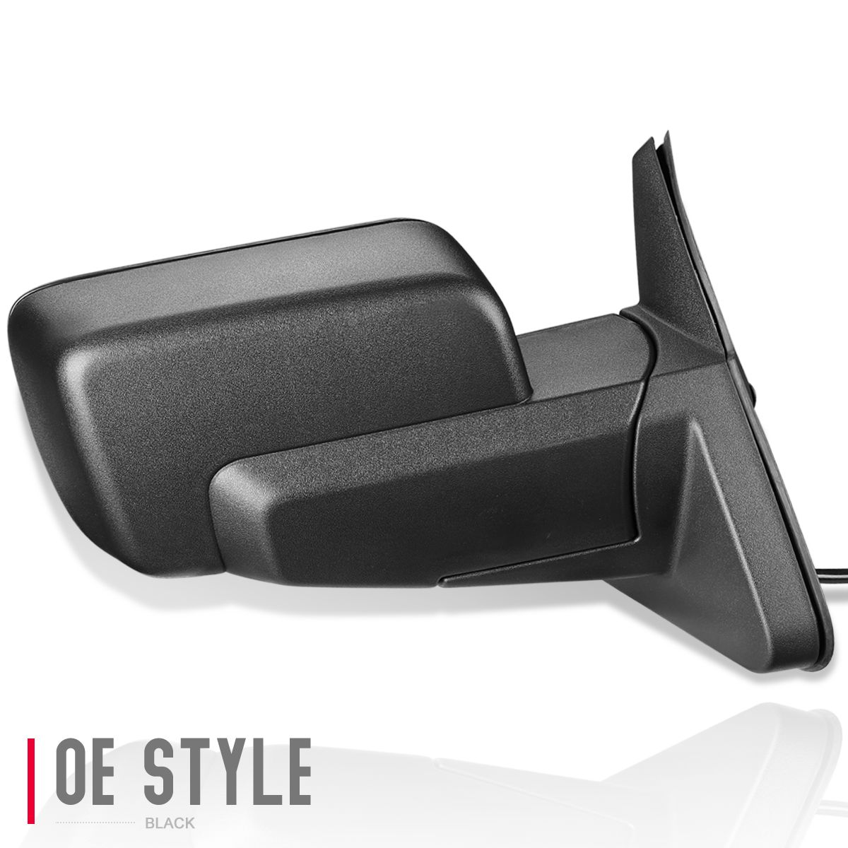 Left Driver Side Textured Heated Side View Mirror for 2006-2010 Jeep Commander Parts Link # CH1320267