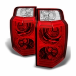 2006-2010 Jeep Commander Red Clear Replacement Tail Lights