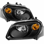2006-2011 Chevy HHR Replacement Crystal Headlights - Black