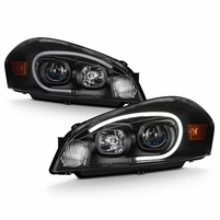 2006-2013 Chevy ImpalaLED Tube Projector Headlights - Black