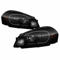 2006-2013 Chevy ImpalaLED Tube Projector Headlights - Black Smoked