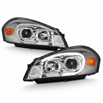2006-2013 Chevy ImpalaLED Tube Projector Headlights - Chrome