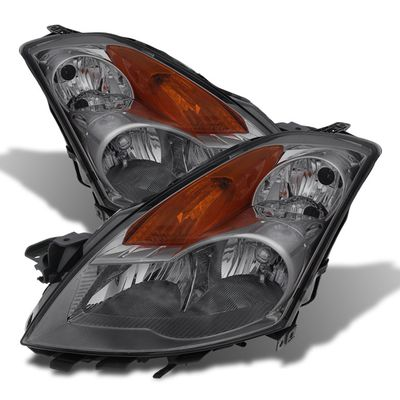07-09 Nissan Altima 4DR [Halogen Model] Crystal Replacement Headlights - Smoked