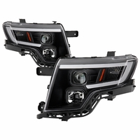 2007-2010 Ford Edge LED Tube Style Black Housing Projector Headlights