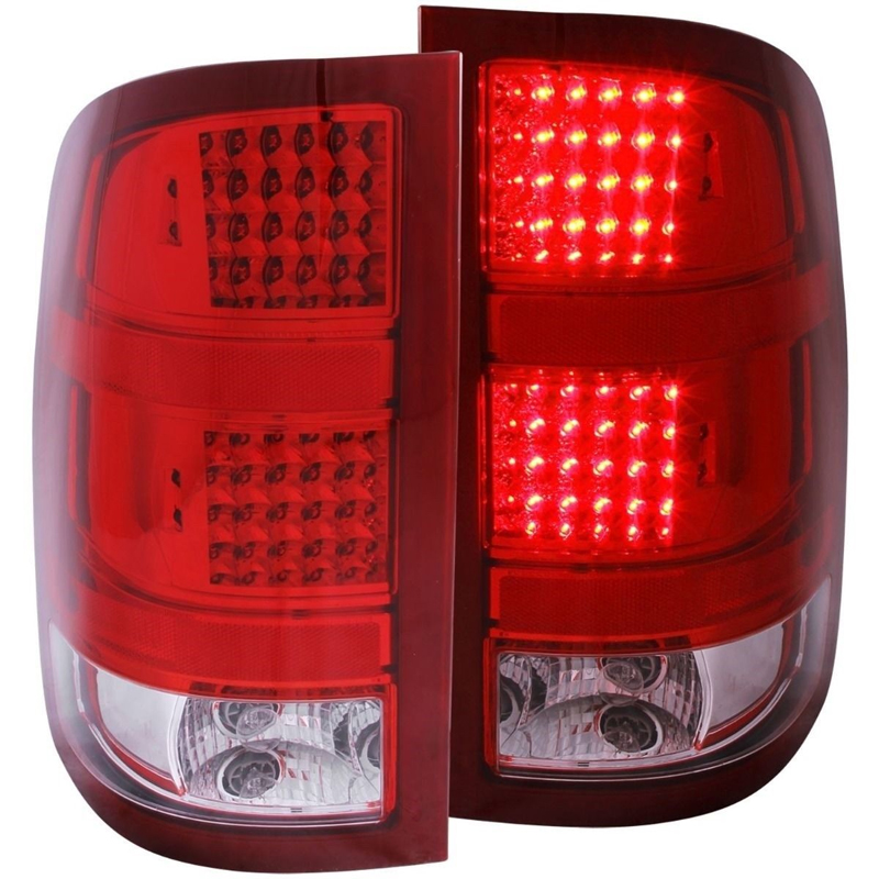 2007 2010 Gmc Sierra Full Performance Led Tail Lights Red Clear Click To Enlarge