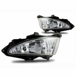 2007-2010 Hyundai Elantra Front Bumper Fog Lights Kit + Harness and Switch - Clear