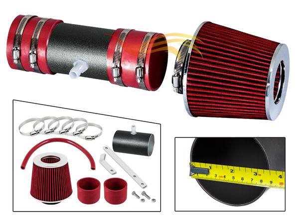 2007-2011 Buick Enclave Short Ram Intake Black Pipe With Red Kit