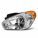 2007-2011 Hyundai Accent Left Side Chrome/Amber Corner Headlight