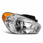 2007-2011 Hyundai Accent Right Side Chrome/Amber Corner Headlight