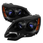 2007-2012 GMC Acadia [Halogen Model] Replacement Projector Headlights - Black