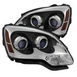 2007-2012 GMC Acadia [Halogen Model] Replacement Projector Headlights - Chrome