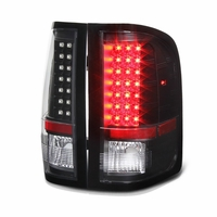 2007-2013 Chevy Silverado 1500 / 2500 / 3500 LED Tail Lights - Black