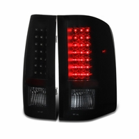 2007-2013 Chevy Silverado 1500 / 2500 / 3500 LED Tail Lights - Black / Smoked