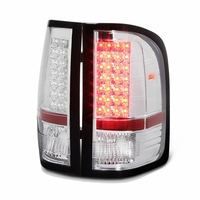 2007-2013 Chevy Silverado 1500 / 2500 / 3500 LED Tail Lights - Chrome