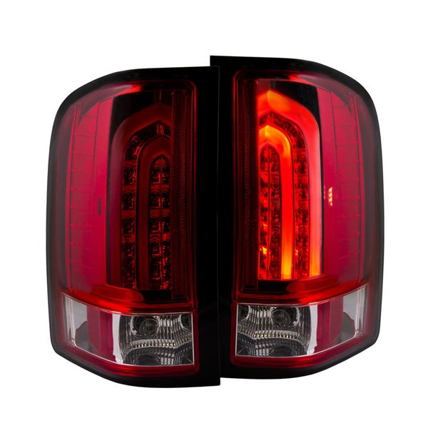 2007-2013 Chevy Silverado G2 Performance LED Tail Lights - Red Clear