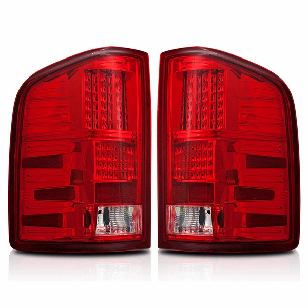 2007-2013 Chevy Silverado Performance LED Tail Lights - Red / Clear