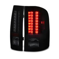 2007-2013 Chevy Silverado Pickup LED Tail Lights - Black Smoked ALT-YD-CS07-LED-BSM By Spyder