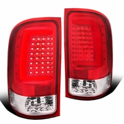2007-2013 GMC Sierra 1500 2500HD Optic-Style LED Tail Lights - Red