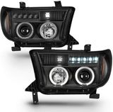 2007-2013 Toyota Tundra / 08-17 Sequoia LED DRL Projector Headlights - Black