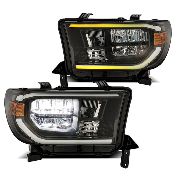 2007-2013 Toyota Tundra / 2008-2017 Sequoia Full LED Sequential Headlights - Black