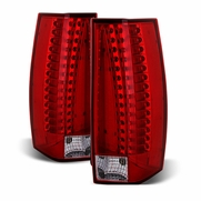 2007-2014 Cadillac Escalade ESV LED Tail Lights [OE Replace] - Red Clear
