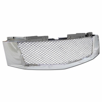 2007-2014 Cadillac Escalade/EXT Mesh Front Hood Bumper Grille - Chrome