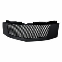 2007-2014 Cadillac Escalade/EXT Mesh Front Hood Bumper Grille - Matte Black