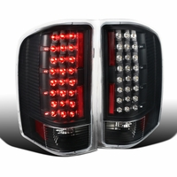 2007-2014 Chevy Silverado 1500 2500 3500 Pickup LED Tail Lights Black