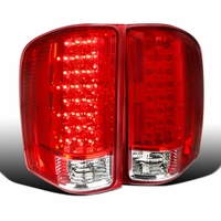 2007-2014 Chevy Silverado 1500 2500 3500 Pickup LED Tail Lights Red