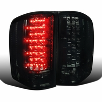 2007-2014 Chevy Silverado 1500 2500 3500 Pickup LED Tail Lights Smoked