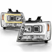 2007-2014 Chevy Suburban Tahoe Avalanche Switchback Signal Projector Headlights - Chrome