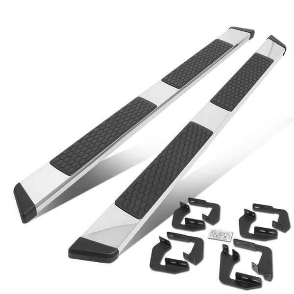 2007-2020 Toyota Tundra Extended Crew/CrewMax Cab 5-inch Flat Chrome Running Boards