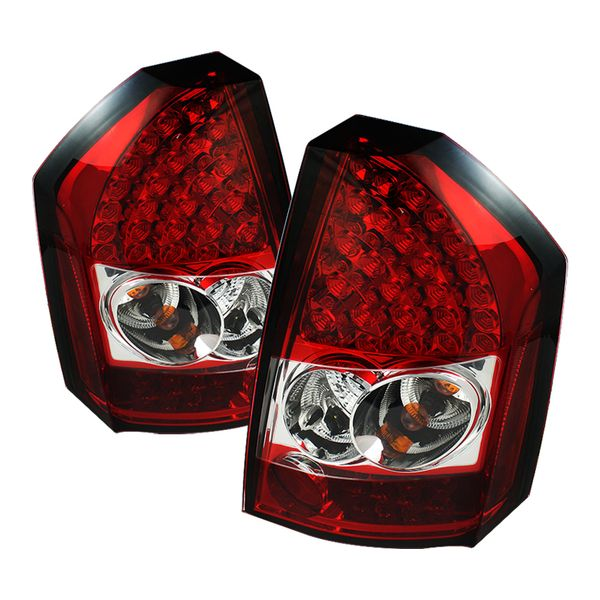 2008-2010 Chrysler 300C Performance LED Tail Lights - Red / Clear