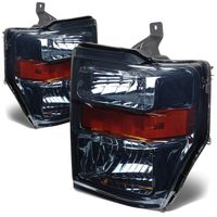 2008-2010 Ford F250 F350 SuperDuty Crystal Replacement Headlights - Smoked