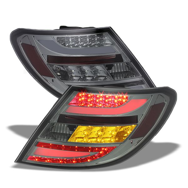2008-2010 Mercedes Benz C-Class W204 Euro Style LED Tail Lights - Smoked