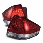 2008-2011 Ford Focus Sedan Full LED Performance Tail Lights - Red / Clear